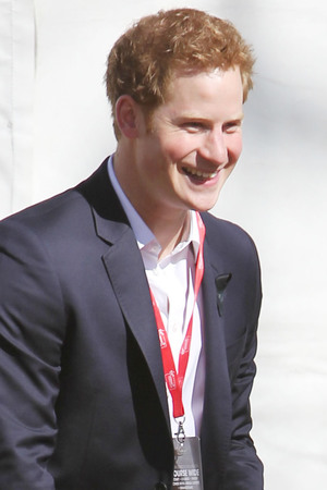 Prince Harry at the 2013 London Marathon.