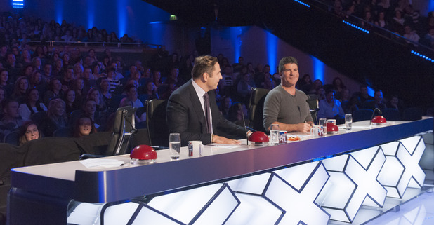 David and Simon are left to judge alone when the girls walk out on Britain's Got Talent episode 2