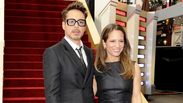 Robert Downey Jr and Susan Downey arriving at the 'Iron Man 3' UK premiere in London
