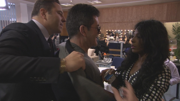 David and Sinitta argue over taking Simon's coat on Britain's Got Talent episode 2
