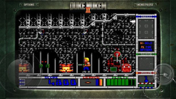 A screenshot from 'Duke Nukem 2' on iOS
