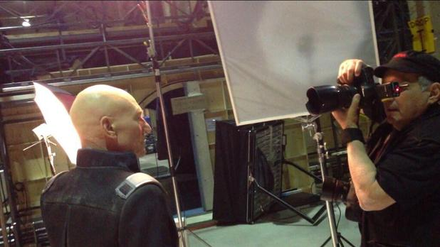 Patrick Stewart has his picture taken for 'X-Men: Days Of Future Past'