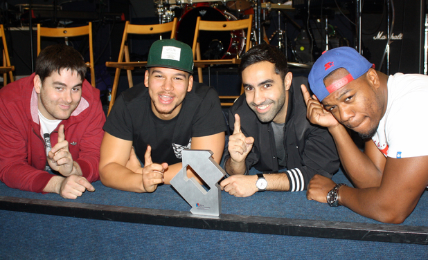 Rudimental celebrate their second UK number one single