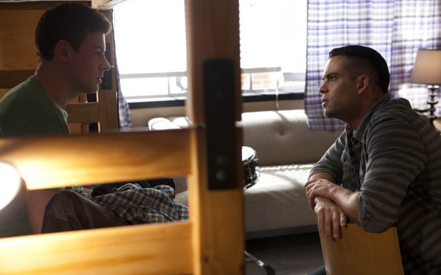 Finn (Cory Monteith) and Puck (Mark Salling) chat) in Glee S04E19: 'Sweet Dreams'