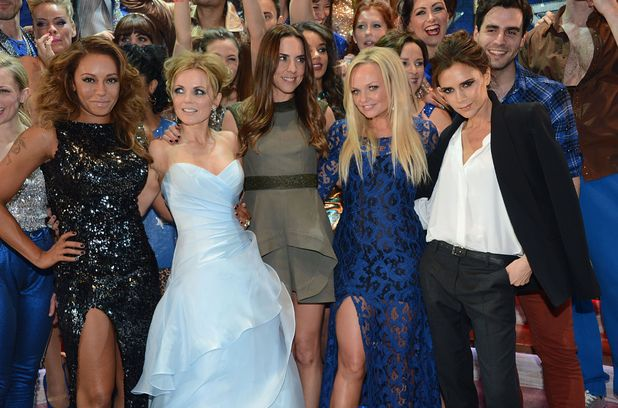 Spice Girls, Victoria Beckham, birthday, smile, Viva Forever!, musical press night