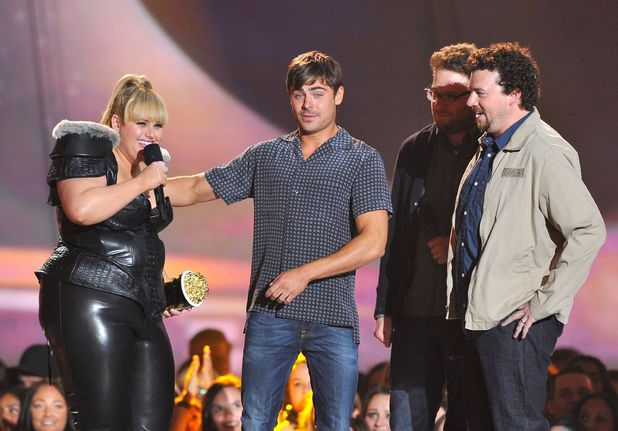 Rebel Wilson accepts the 'Breakthrough Performance' award