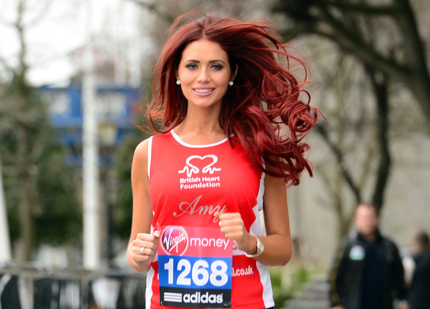 Amy Childs during a photocall at the Tower Hotel, London.