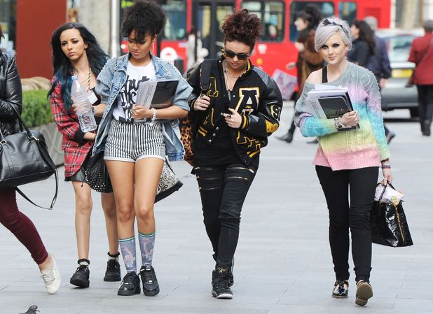 Little Mix, Jade Thirlwall, Leigh-Anne Pinnock, Jesy Nelson and Perrie Edwards at Capital FM