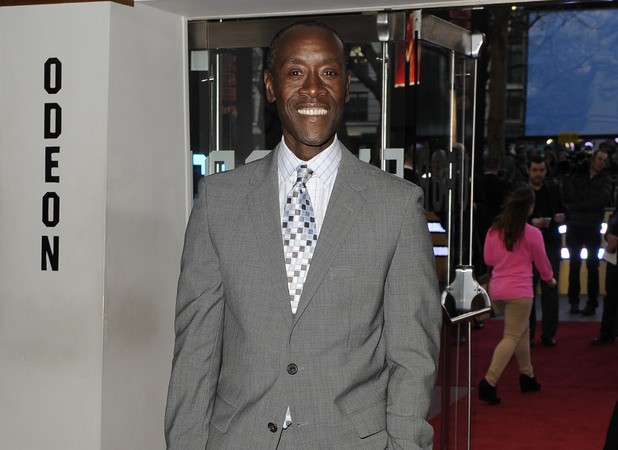 Don Cheadle arriving at the 'Iron Man 3' UK premiere in London