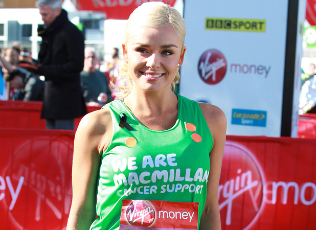 Katherine Jenkins at the 2013 London Marathon.