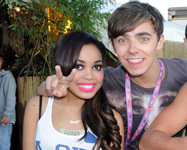 Dionne Bromfield, Nathan Sykes, Max George, Aston Merrygold in 2011