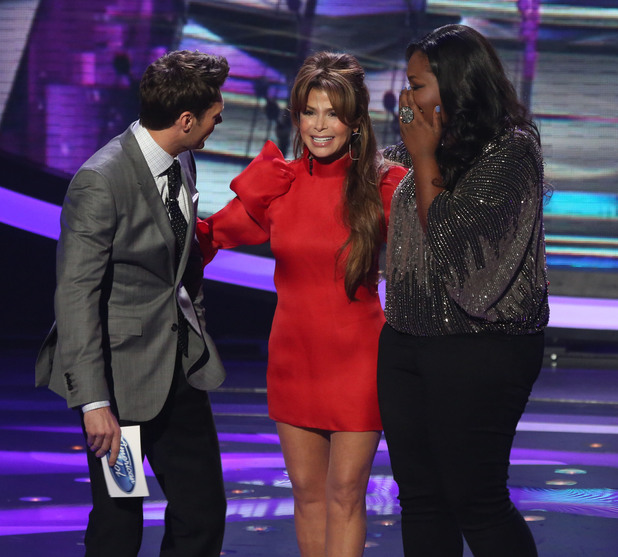 'American Idol' Top 5 results show: Paula Abdul surprises Ryan Seacrest and Candice Glover
