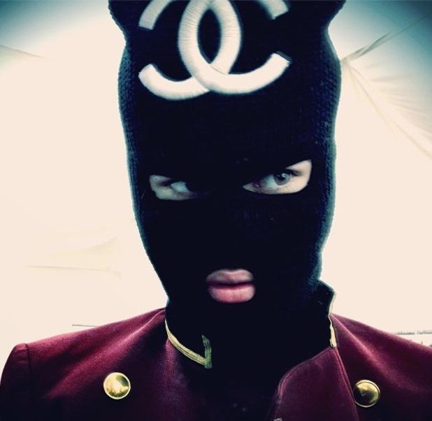 Justin Bieber, balaclava, Chanel, instagram