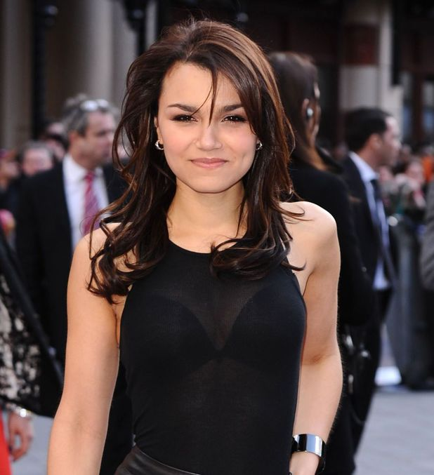 Samantha Barks arriving at the 'Iron Man 3' UK premiere in London