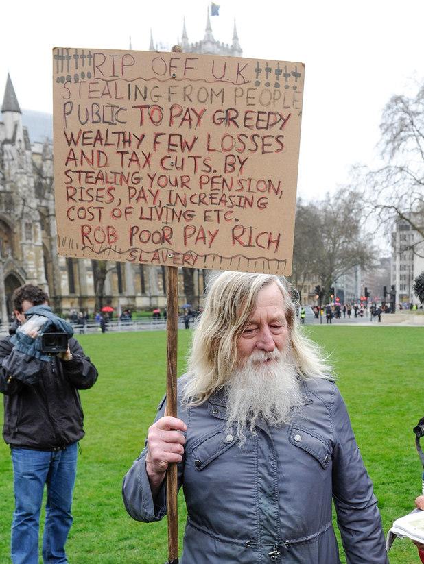 A protestor