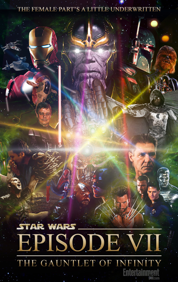 Patton Oswalt in Star Wars Marvel movie poster