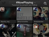 Twitter #music NowPlaying page.