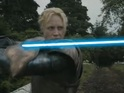 An awesome sword fight is made even more epic with a Star Wars twist.