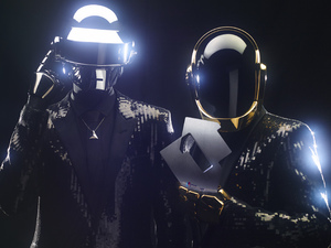 Daft Punk celebrate their first UK number one single