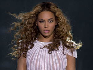 Beyonce performs on stage at the  LG Arena in Birmingham during her Mrs. Carter Show World Tour 2013.