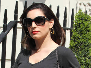 Kelly Brook leaving her house to visit rugby player boyfriend Danny Cipriani in hospital after he was hit by a bus following a drunken pub crawl with his Sale Sharks teammates in Leeds.