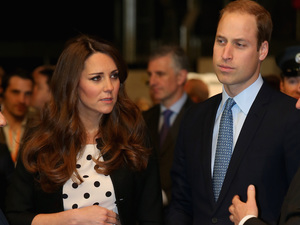 The Duke and Duchess of Cambridge during their visit to Warner Bros studios in Leavesden