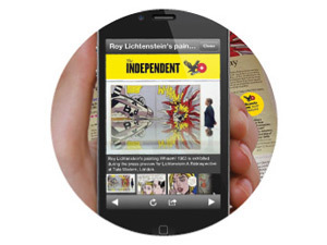 The Independent augmented reality app in action