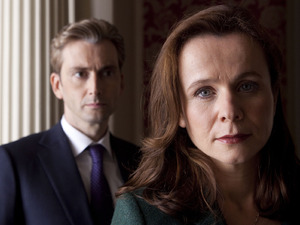 David Tennant and Emily Watson in ''The Politician's Husband'