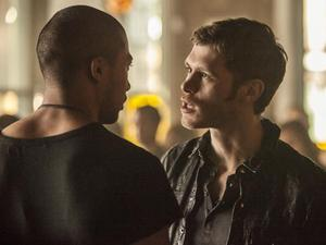 The Vampire Diaries - &#39;The Originals&#39; (S04E20): Charles Michael Davis as Marcel and Joseph Morgan as Klaus