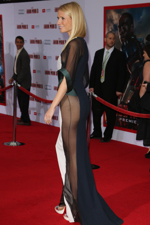 Gwyneth Paltrow, Iron Man 3 premiere, sheer dress, Antonio Berardi