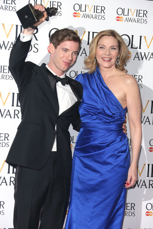 The Olivier Awards 2013: Luke Treadaway and Kim Cattrall