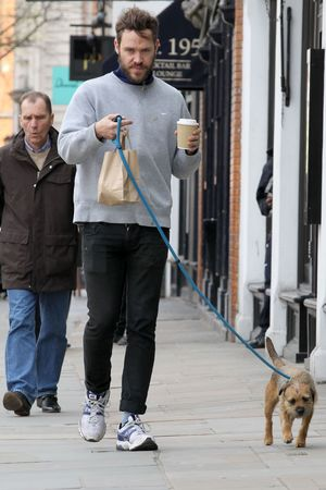 Will Young, unkempt, beard, Central London, dog