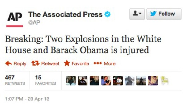 The Associated Press' Twitter account is hacked