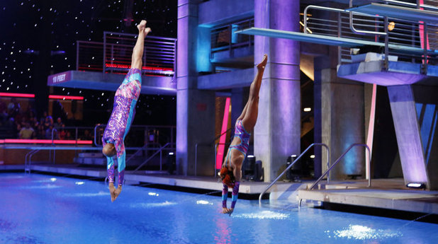 Kareem Abdul-Jabbar and Michelle Lee, Splash, dive, ABC