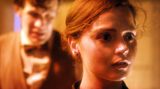 The Doctor (Matt Smith) & Clara (Jenna-Louise Coleman) in Doctor Who S07E05: 'Journey to the Centre of the TARDIS'