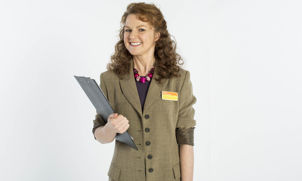 Sarah Hadland as Trish in ITV's 'The Job Lot'