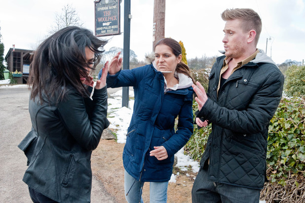 Rachel Breckle slaps Priya Sharma