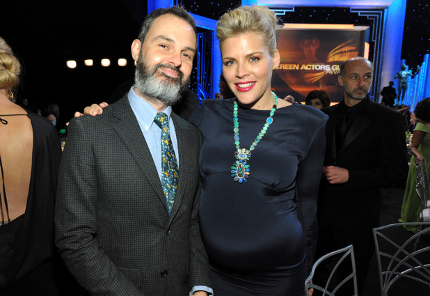 Marc Silverstein and Busy Philipps