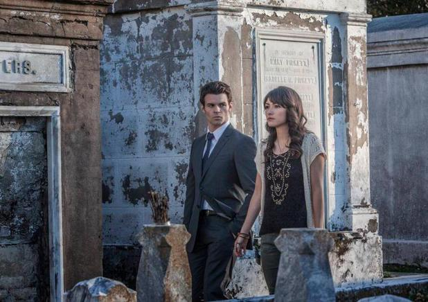 The Vampire Diaries - 'The Originals' (S04E20): Daniel Gillies as Elijah and Daniella Pineda as Sophie