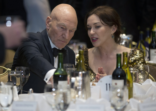 Patrick Stewart and Sunny Ozell attend the White House Correspondents' Dinner
