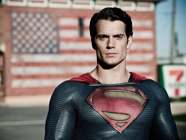 Man of Steel Henry Cavill Superman American flag