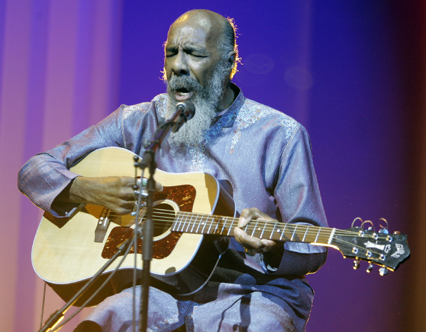 Richie Havens plays at the opening night ceremony during the 61st International film festival in Cannes, May 2008