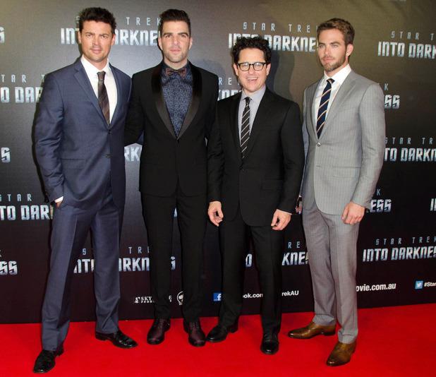 J.J Abrams,Chris Pine,Zachary Quinto,Karl UrbanJ.J Abrams,Chris Pine,Zachary Quinto,Karl Urban