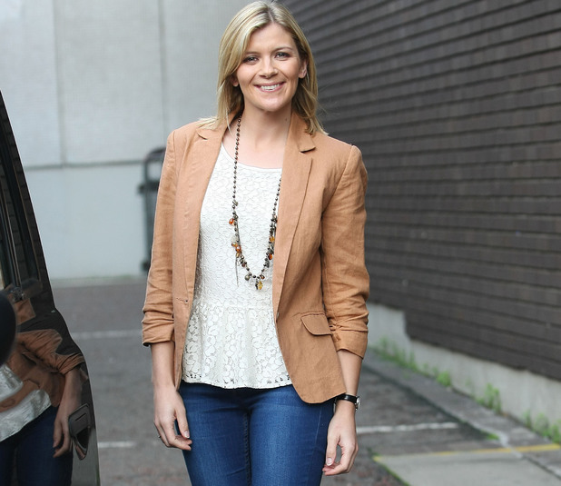 Jane Danson at the ITV studios