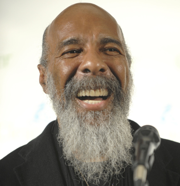 Richie Havens makes an appearance in the press room at the Clearwater Concert celebrating Pete Seeger's 90th birthday at Madison Square Garden, in New York, May 2009