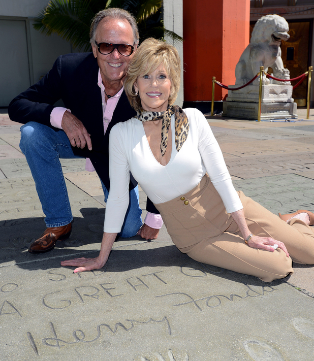 Jane Fonda and her brother Peter Fonda