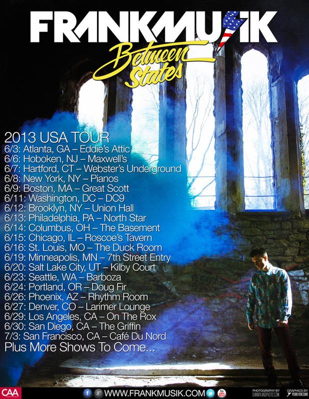Frankmusik US tour poster