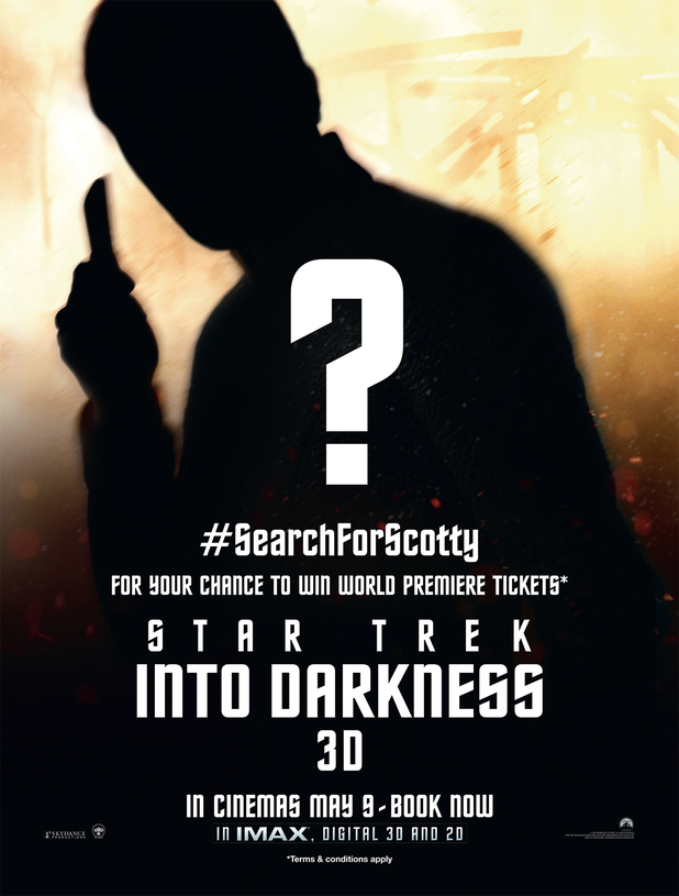 'Star Trek Into Darkness' Search for Scotty poster