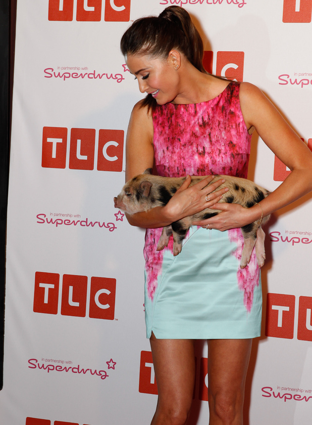 Lisa Snowdon at the TLC launch party