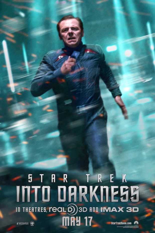 Simon Pegg as Scotty in 'Star Trek Into Darkness'